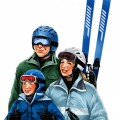 Skiing family ad, 2008