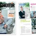 Sauma -asiakaslehti 2014  / TAKK / lehden taitto ja ulkoasun päivitys, 24 sivua / 2014