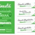 Kunnallisvaalimainokset / Tampereen Vihreät ry / Tabloid-juliste, bussin takalasimainokset / 2012